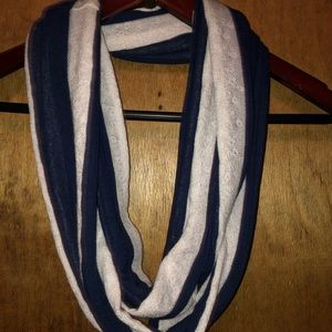 Blue and lace infinity scarf